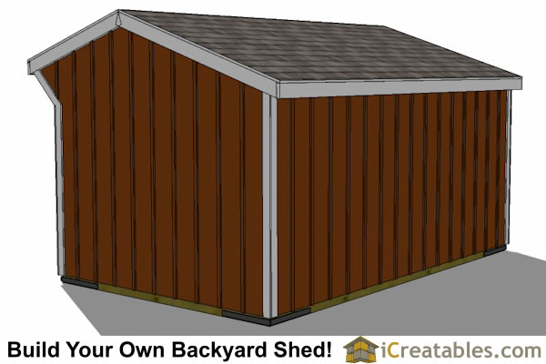 12x16 run in shed plans rear