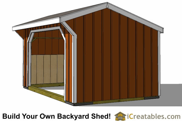 12x16 run in shed plans right