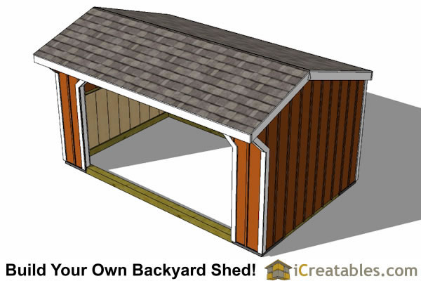 12x16 run in shed plans top
