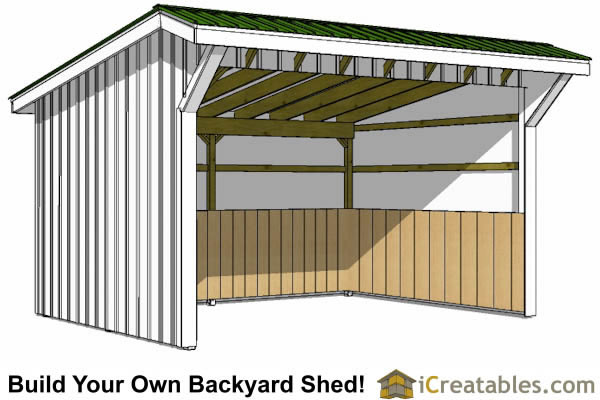 Run in shed plans building your own horse barn icreatables Build your own cupola