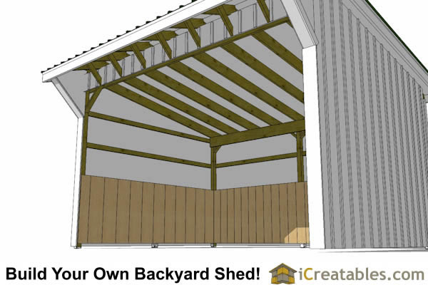 12x16 run in shed plans inside