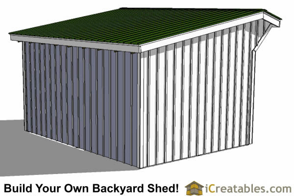12x16 run in shed plans left rear