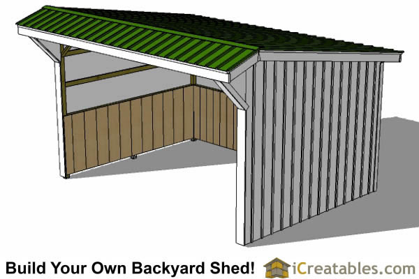 12x16 run in shed plans top view