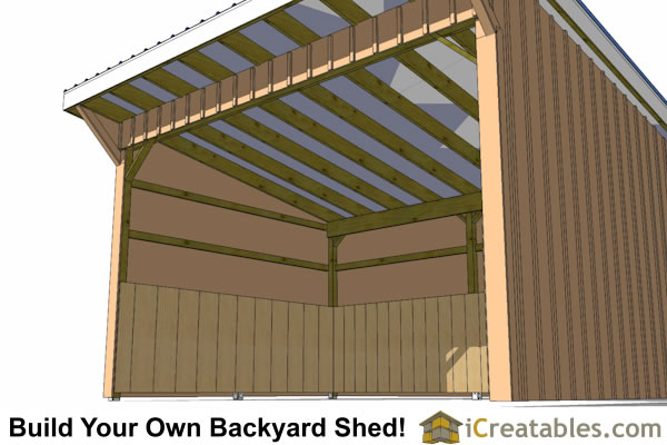 12x16 run in shed plans for Horse barn materials