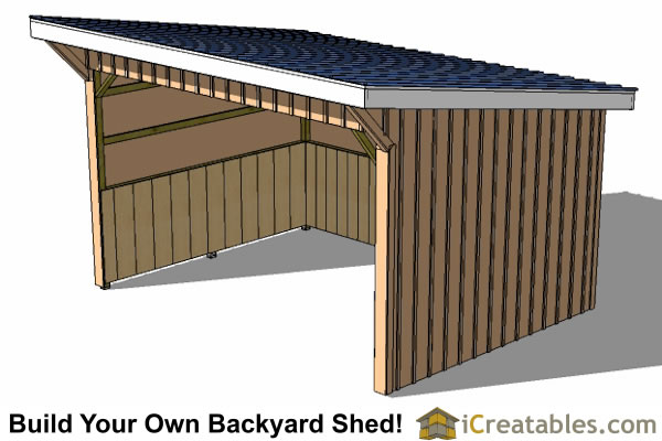 12x16 run in shed plans Horse run in shed plans design