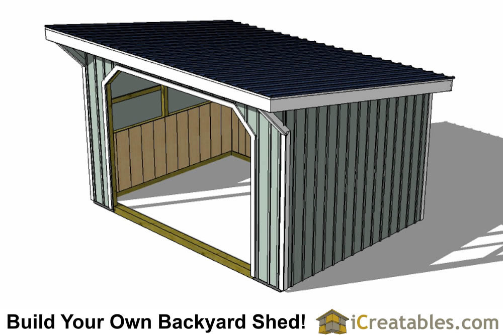 12x16 Run In Shed Plans With Wood Foundation