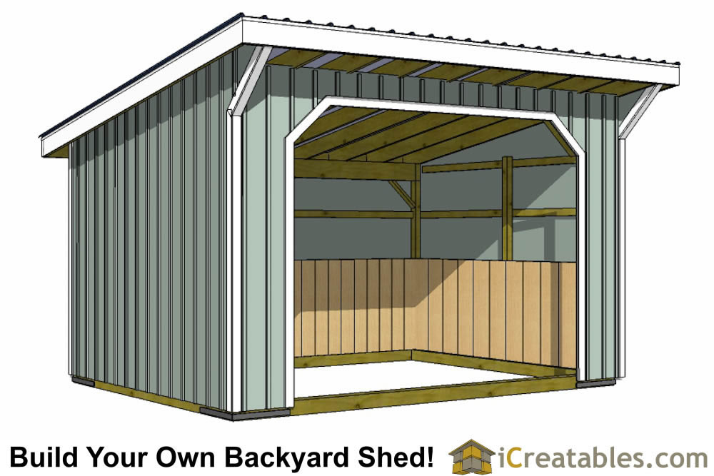 12x16 Storage Shed Plans : Run in shed plans building your own horse barn icreatables