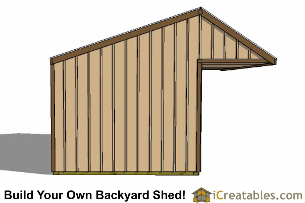 12x24 run in shed plans with cantilever Horse run in shed plans design