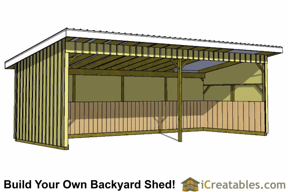 12x30 run in shed plans for Lean to style house plans