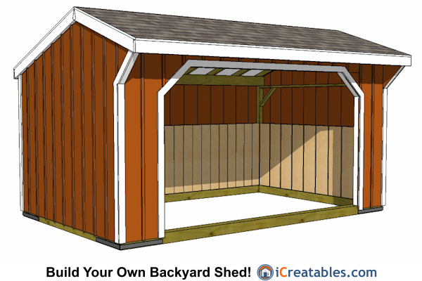 12x16 run in shed