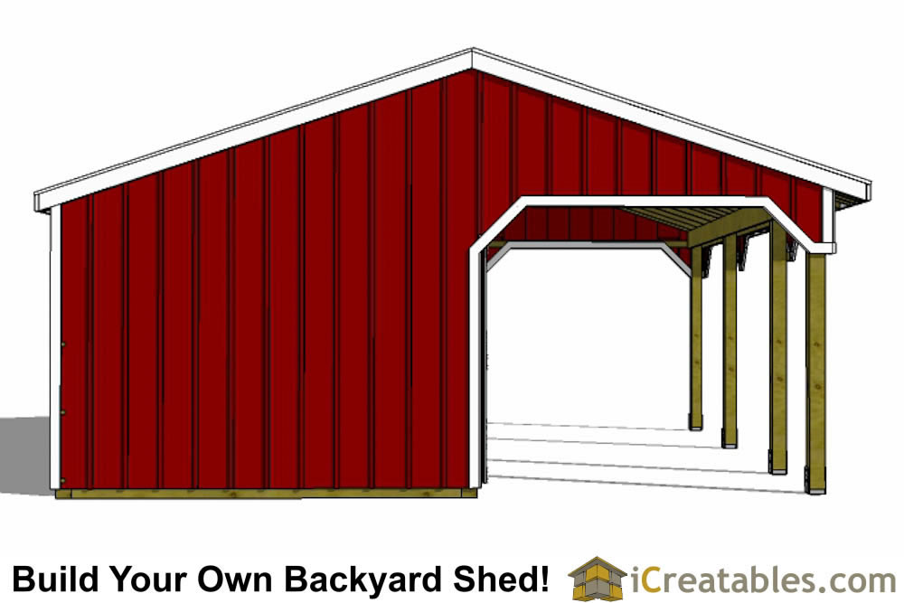 2 stall horse barn plans with 10x12 stalls and tack room for Two stall horse barn