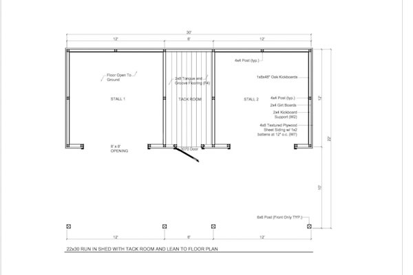 12x24 Run In Shed Plans The Shed Build