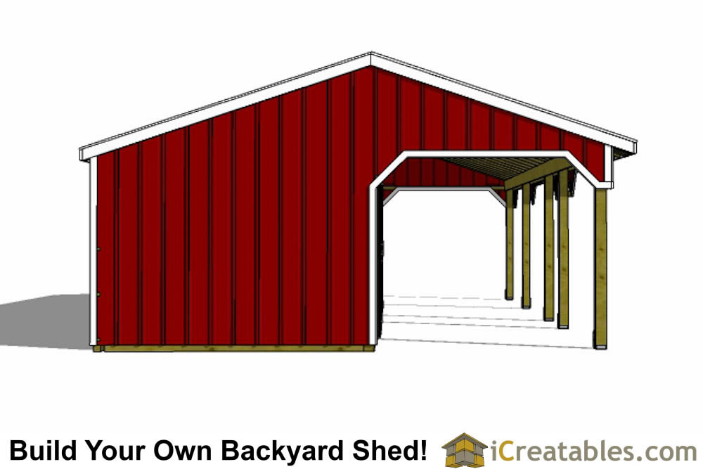 3 stall horse barn plans with lean to and center tack room for 8 stall barn plans
