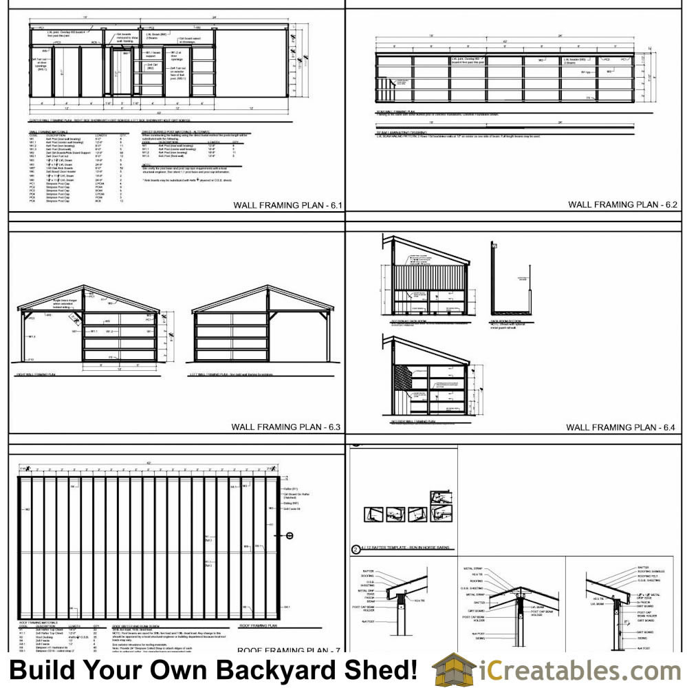 3 Stall Horse Barn Plans With Lean To And Center Tack Room