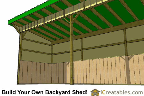 8x24 horse run in shed plans inside