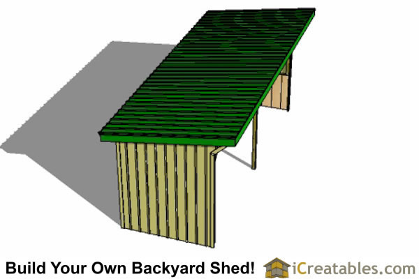 8x24 horse run in shed plans top view