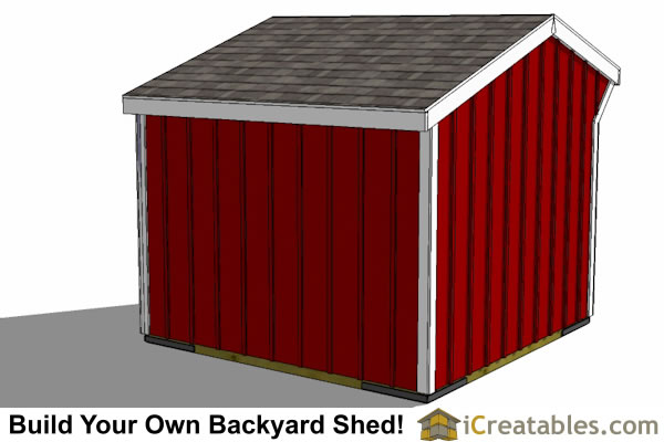 8x8 run in shed horse barn rear