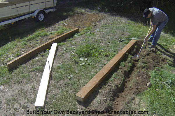 How to build a shed foundation digging the rail beds