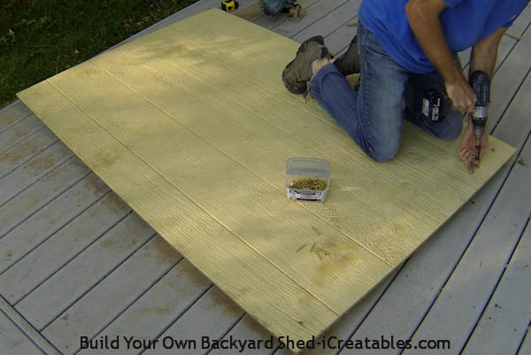 How to build a shed door attach front door to shed door
