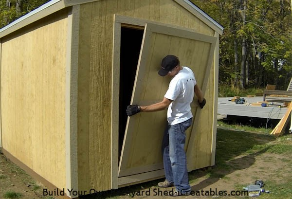 How To Build A Shed Door Icreatables Com