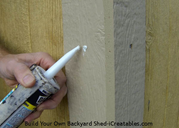 caulk nail head