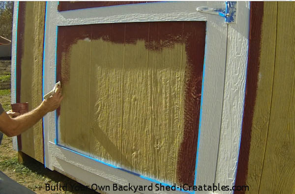 cut in paint around trim
