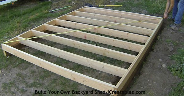 Shed plans how to build a shed icreatables for How to build a garage floor