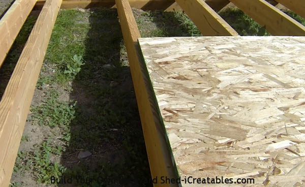 end of floor sheeting meeting on floor joist-how to build a floor