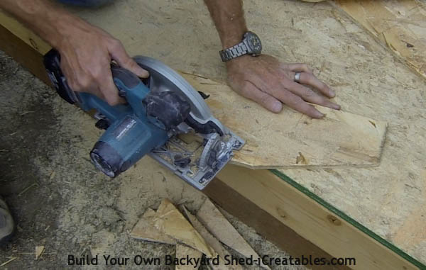 How to build shed roof rafters cutting the rafter gusset