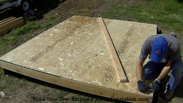 How to build shed walls marking wall locations on shed floor