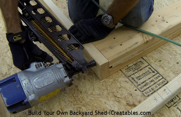 How to build shed walls nailing door header to king studs