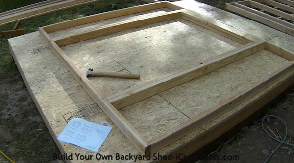 How to build shed walls framing door opening