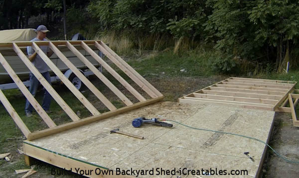 How To Build Shed Walls Standing First Wall