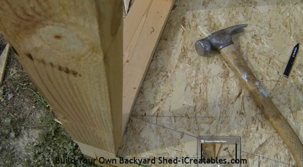How to build shed walls lining up shed walls with shed floor