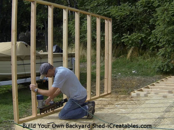How to build shed walls nailing walls to floor