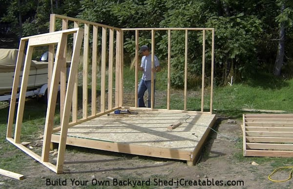 How to build shed walls standing second shed wall