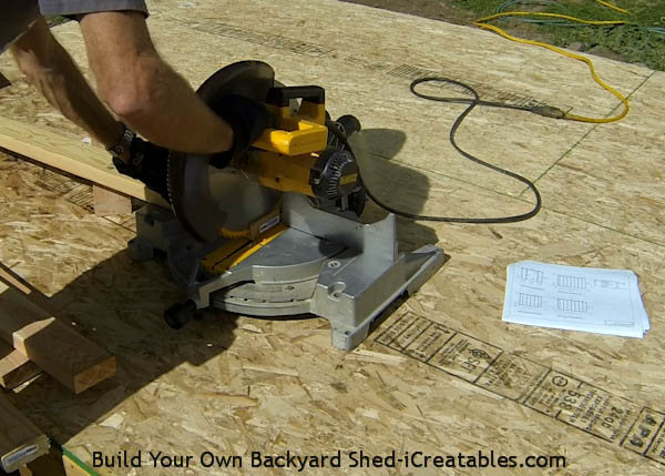 How to build shed walls cutting wall plates