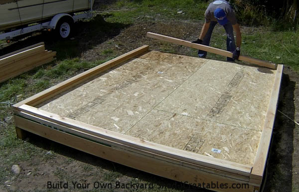 How to build shed walls setting wall plates on shed floor framing