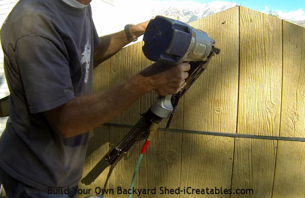 How to install siding on a shed install siding on gable ends of roof