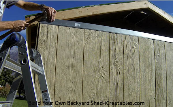 How to install siding on a shed install Z metal