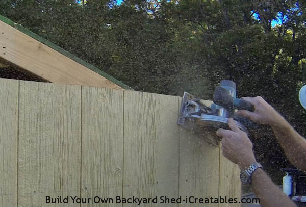 How to install siding on a shed cut off siding on roof slope