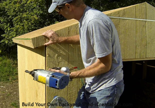 How to install siding on a shed fill in siding on rafter tails