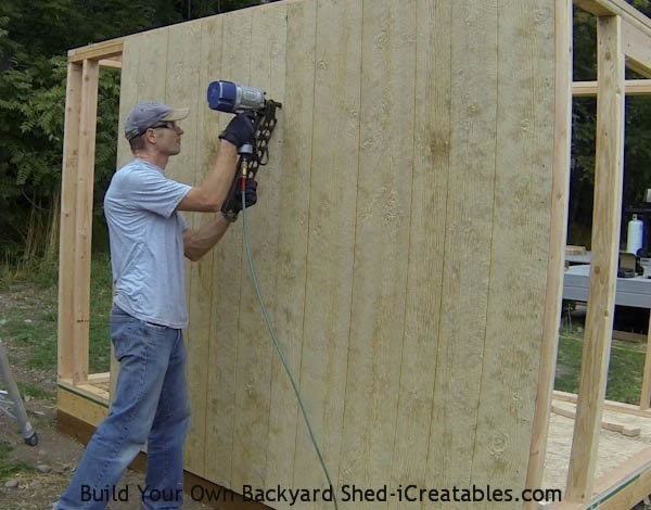 How to install siding on a shed nailing siding on the shed walls