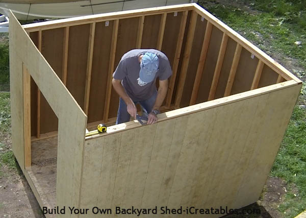 How to build a shed storage shed building instructions for How to build a sloped roof shed