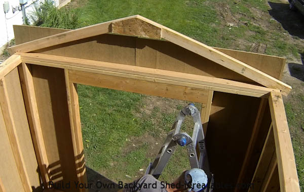 How To Build A Shed Build The Shed Roof