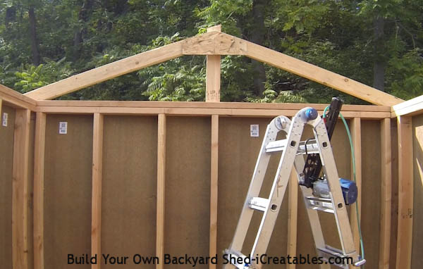 How to build a shed roof install first roof rafter
