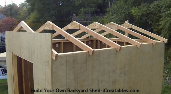How to build a shed roof set roof rafters