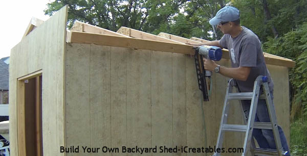 How to build a shed roof nailing eve fascia on