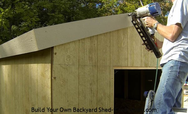 How To Build A Shed Install Exterior Trim