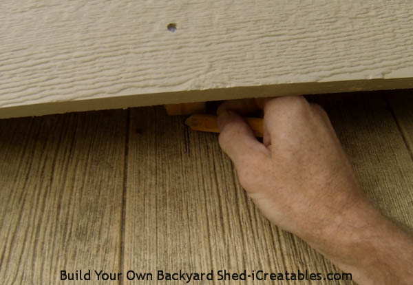 How to install exterior trim marking rafter locations on the soffit
